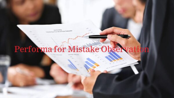 Performa for Mistake Observation